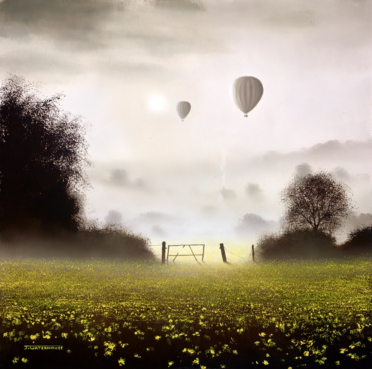 This Still Cool Air by john waterhouse -  sized 13x13 inches. Available from Whitewall Galleries